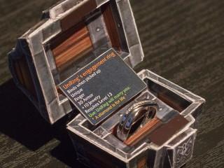 Une proposition en mariage en papercraft