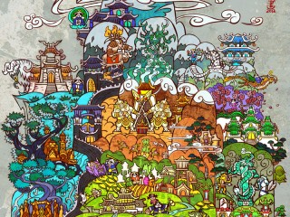 Fan art – Le continent de la Pandarie vu par Jian Guo