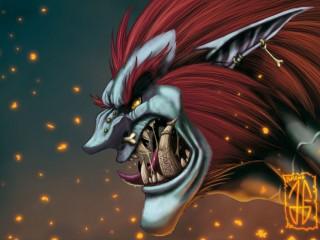 Fan art : Un troll pas content réalisé par Keltanor
