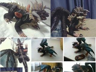 Figurine d'Onyxia créée par Cheshin