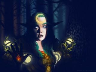 Druidesse elfe de la nuit T9 par Vicky Yarova