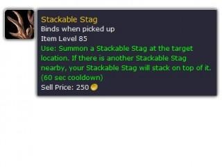 Un cerf empilable pour le patch 5.1