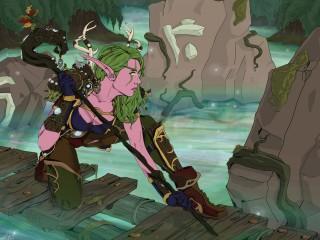 Une druidesse elfe façon BD de Celiwin