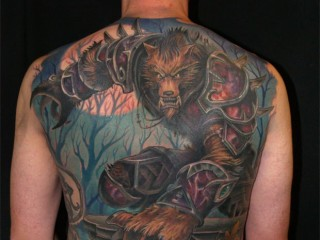 Tatouage worgen par Clay McCay