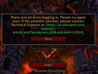 Problèmes de connexion à World of Warcraft (26/08/2012)