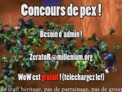 Concours de pex mardi à 18h avec ZeratoR