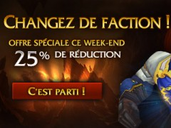 Le changement  de faction à 18,75€ ce week-end
