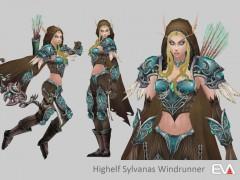 Modèle 3D de Sylvanas Coursevent en haut-elfe par Vaanel