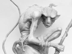 Sculpture d'un Hozen par Azariele