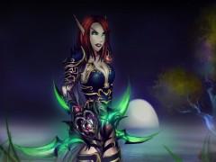 Une elfe de sang et une draeneï par Kiayz