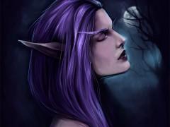 Portrait d'une elfe de la Nuit par Naamah