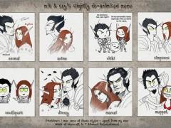Fan art : Des elfes de sang dans différents styles