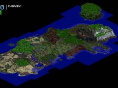 Kalimdor refait dans Minecraft