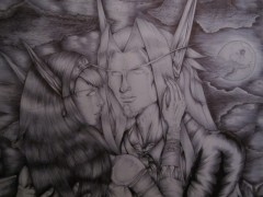 Fan art - Elfes de sang au crayon